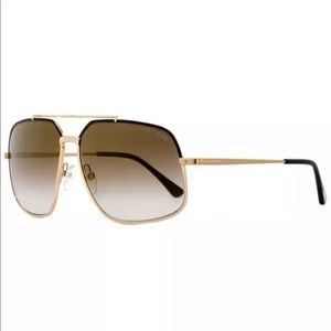TOM FORD RONNIE TF 439 48F GOLD BLACK BROWN GRAD
